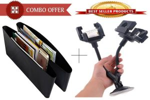 Buy Combo Offer! Car Catch Caddy And Mobile Stand Holder Mount - Cmcscm