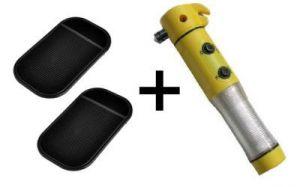 5 IN 1 Car Emergency Torch Hammer    Anti Slip Magic Mad Pad - CRTOPMT