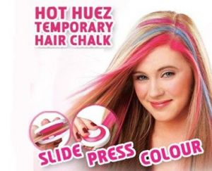 Temporary Hair Chalk- 4 Hot Pink Blue Fuchsia