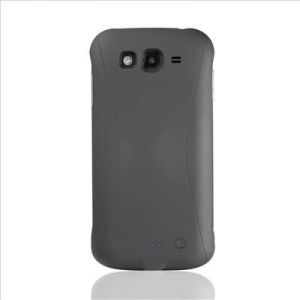 Black 3300mah External Backup Battery For Samsung Galaxy Grand Duos I908