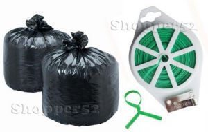 150 PCs Big Disposable Garbage Bag With 2 Twist Tie