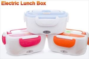 High Quality Portable Electric Heatable Lunch Box With Spoon
