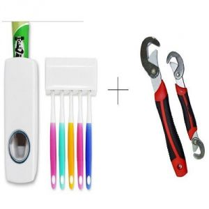 Buy Automatic Toothpaste Dispenser With Free Snap N Grip Wrench Set - Tdissnp