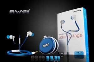 New Awei Es710i Earphones Headphones With Mic For 3.5mm Mobile