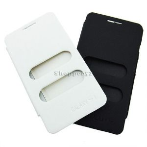 White Battery Flip Book Cover Table Talk Case For Samsung Galaxy S2 19100