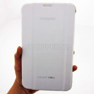 Tablet Cases - Leather Case Book Cover For Samsung Galaxy Tab 3 7.0 T210 P3200-White