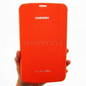 Tablet Cases - Leather Case Book Cover For Samsung Galaxy Tab 3 7.0 T210 P3200-Orange
