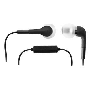Black Ifrogz Luxe In Ear Earphone Headphones With Microphone Mobile iPod IP