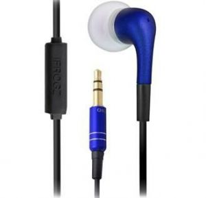 Blue Ifrogz Luxe In Ear Earphone Headphones With Microphone Mobile iPod I