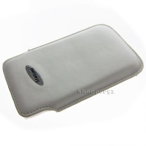 White Vertical Soft Pouch Leather Cover Case For Samsung S2 S3 S4