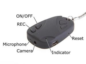 Security, Surveillance Equipment - Car Keychain With Hidden Spy Camera Recording DVR