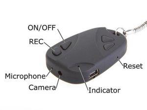 Security Cameras - Car Keychain With Hidden Spy Camera Recording DVR