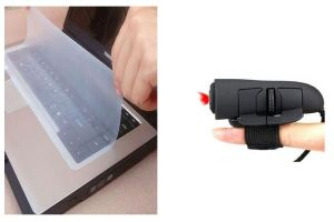 Keyboard, Mouse Combos - Combo of Silicone Keyboard Protector & Optical Finger Mouse - KYFNGS