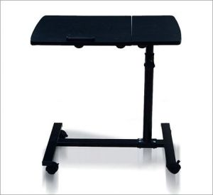 Metal Frame Laptop Table Folding Etable With Mouse Stand And Wheel