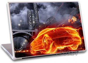 Fire Car Skin Laptop Notebook Vinly Skins High Quality - Lp0314