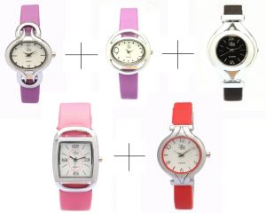 Women's Watches   Other Belt   Digital - Diwali Special Combo Offer!!! For Five LR Analog Watch For Women - LWCM016