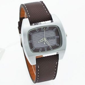 Leather strap - Mens Leather Belt Wrist Watch  - MW1024-12