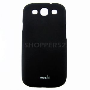 Black Samsung Galaxy S3 I9300 Moshi Matte Plastic Hard Back Case Cover