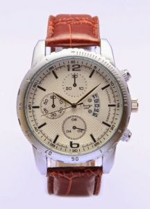 Men's Watches   Leather Belt   Analog - Charigo Analog Chronograph Watch For Men MW-021
