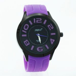 Purple Designer Mens Boys Fiber Wrist Watch