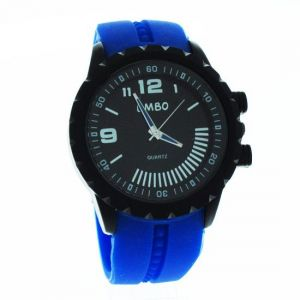 Blue Designer Mens Boys Fiber Wrist Watch