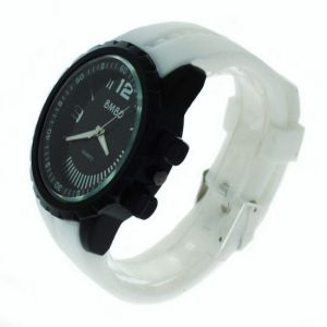 White Designer Mens Boys Fiber Wrist Watch