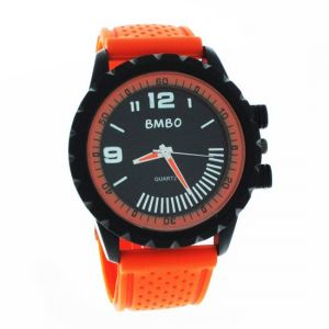 Orange Designer Mens Boys Fiber Wrist Watch