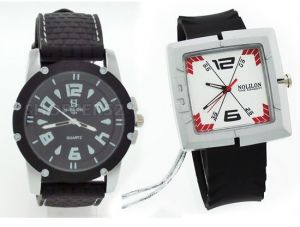 Men's Watches   Leather Belt   Analog - Buy 1 Get 1 Free - Designer Mens Stylish Wrist Watch MW012