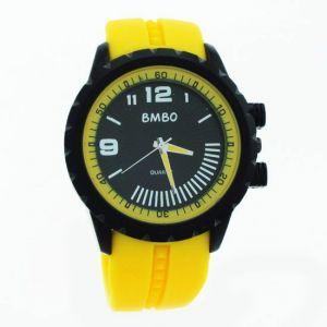 Yellow Designer Mens Boys Fiber Wrist Watch