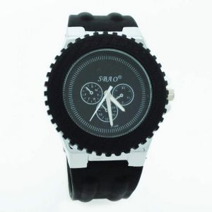 Black Designer Mens Boys Fiber Wrist Watch