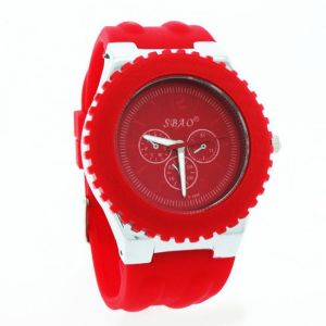 Red Designer Mens Boys Fiber Wrist Watch