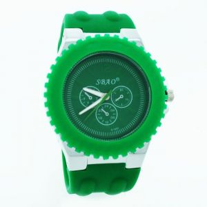 Green Designer Mens Boys Fiber Wrist Watch