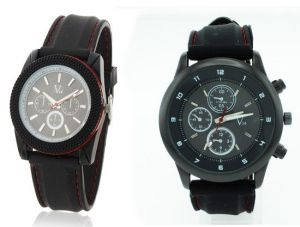 Men's Watches   Leather Belt   Analog - Buy 1 Get 1 Designer Mens Stylish Wrist Watch MW030
