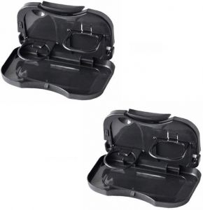 Car Utilities - Foldable Car Dining Meal Drink Tray Set Of 2