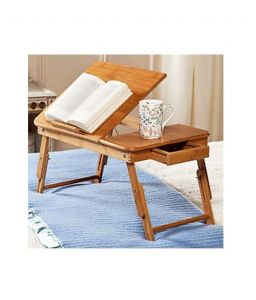 Home Basics Portable Multipurpose Laptop Wooden E-table For Study Reading