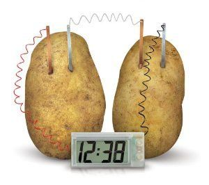 New Science Product Potato Clock - Cool Clock Take Power From Potato / Lemo