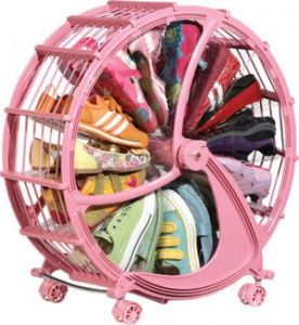 Shoe Storage Wheel Rack- Pink