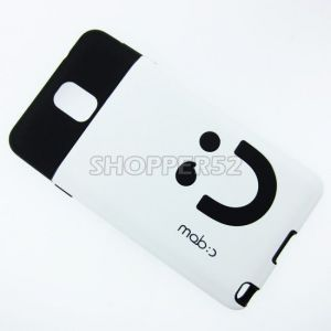 White Rubber Hard Back Case For Samsung Galaxy Note 3 N9000