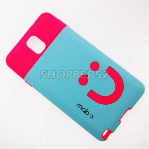Blue Rubber Hard Back Case For Samsung Galaxy Note 3 N9000