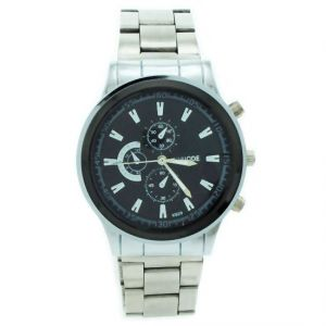 Mens Steel Belt Chrono Wrist Watch Date Display-01