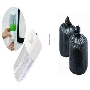 Buy Single Soap Dispenser With Free Disposables Garbage Bag 90 PCs - Sdisgrb90