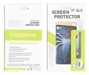 Apple iPhone Screen Protectors - Designer Front and Back Screen Protector Skin For Apple iPhone 4 4S SCR401