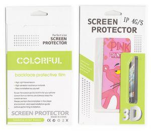 Apple iPhone Screen Protectors - Designer Front and Back Screen Protector Skin For Apple iPhone 4 4S SCR409