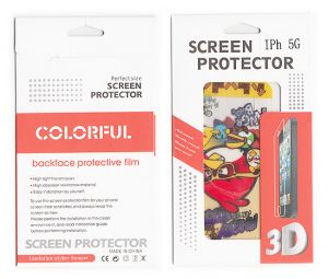 Designer Front And Back Screen Protector Skin For Apple iPhone 5 Scr508