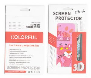 Designer Front And Back Screen Protector Skin For Apple iPhone 5 Scr509