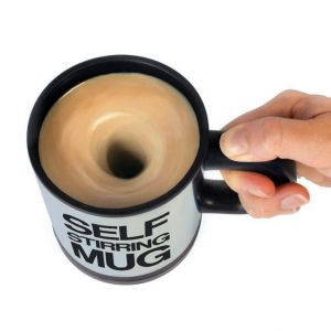 Self Stirring Mug With Lid For Coffee Tea Juices Buttermilk -slfmug03