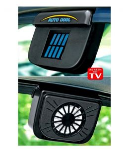 Car Accessories - Solar Powered Power Auto Cool Fan Car Air Vent