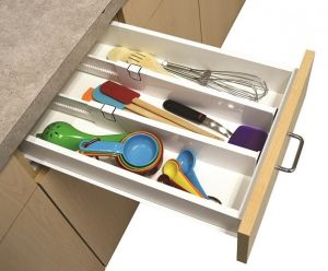Storage - Set Of 2 Snap Fit Drawer Dividers Storage Organizer
