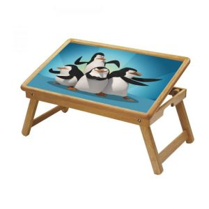 Happy Feet Penguin Multipurpose Foldable Wooden Study Table For Kids
