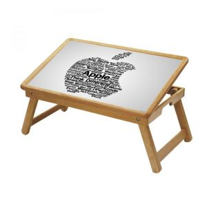 Apple Logo Multipurpose Foldable Wooden Study Table For Kids - Study 535